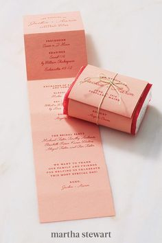 Fold a program over a mini tissue pack. Tie it with colored twine to make it as pretty as it is practical. #weddingideas #wedding #marthstewartwedding #weddingplanning #weddingchecklist Diy Wedding Programs, Ceremony Programs, Felt Pouch, Glassine Envelopes, Letter To Yourself, Glue Dots, Letter Size Paper, Custom Stamps, Wedding Stationery