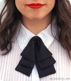 DIY - Cómo hacer una pajarita (para chicas) - MissDIY