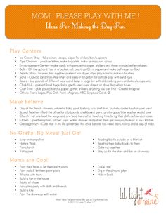 Quick ideas for PLAYING with your kids. Simple fun when youre out of ideas and all are bored. Fantastic list of ideas! activities-for-my-kids Craft Activities For Kids, Toddler Activities, Business For Kids, Raising Kids, My Children, Spring Break, Parenting Hacks, Kids Playing, Cute Kids