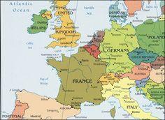 Afbeeldingsresultaat voor landkaart west europa