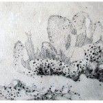 Dibujos Abrasivos - Serie de 13 piezas - Dibujo, técnica mixta sobre madera - Pilar Barrios.