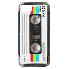 Vintage cassette tape label iPhone 5 cover