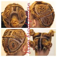 Image result for 4 way vixen sew in braid pattern