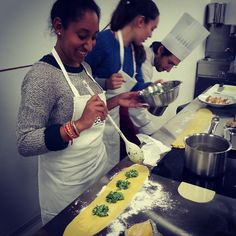Ricotta-spinach ravioli in the making!! #cooking #club