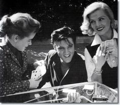 Dolores Hart, Elvis Presley and Lizabeth Scott cast of Loving You 1957