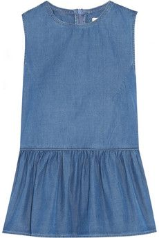 Sexy peplum top in chambray. Zip it up in back!  Chinti and Parker $250 | NET-A-PORTER