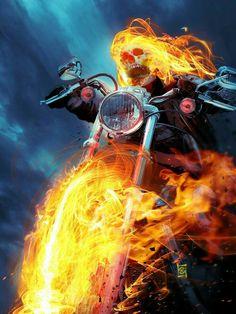 Ghost Rider by JacksDad on DeviantArt Marvel Vs, Marvel Heroes, Marvel Comics, Comic Books Art, Comic Art, Book Art, Spirit Of Vengeance, Ghost Rider Marvel, Skull Art
