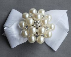 10 Rhinestone Buttons Brooch Embellishment Pearl Crystal Wedding Brooch Bouquet Hair Comb Pin Shoe Clip Cake Invitation BT068