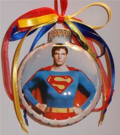 Christopher Reeve as Superman inspired Tribute Christmas Ornament by KustomKeepsakesD on Etsy https://www.etsy.com/listing/169685752/christopher-reeve-as-superman-inspired
