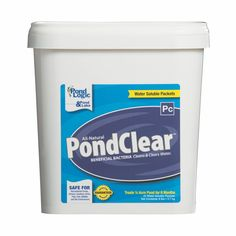 PondClear - Beneficial de-nitrifying bacteria remove algae causing nutrients naturally while improving water clarity and pond ecosystem function.
