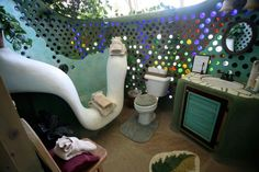 Radically sustainable buildings made with recycled materials--  http://earthship.com/