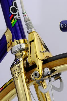 Presenting Colnagold III, the latest jewel to roll out of the studio of Spain's Vintage Luxury Bicycles. 24k Campagnolo Srl C-Record on a Colnago Master. 'Nuff said: