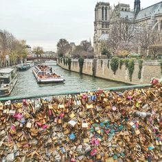 Love locks bridge, Paris. Photo courtesy of tonsquared on Instagram.