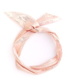 ban.do twist scarf in metallic rose gold!