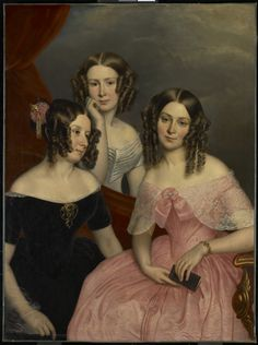 The Three Robinson Sisters, 1846 George Theodore Berthon (Canadian) Painting, oil on canvas Gift of J. Beverly Robinson, 1944