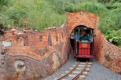 Driving Creek Railway, Potteries & Coromandel Zipline Tours - narrow-gauge mountain railway, built mostly by hand by Barry Brickell & New Coromandel Zipline Tour Gauges, New Zealand, Pottery, Tours, Cabin, Country, House Styles, Building, Pine