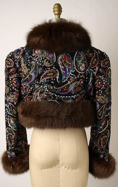 Backside of the evening bolero by Oscar de la Renta fall/winter 1987-1988.