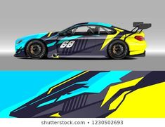 Imagens, fotos stock e vetores similares de Racing car wrap design vector. Graphic abstract stripe racing background kit designs for wrap vehicle, race car, rally, adventure and livery - 1203772780 Sport Cars, Race Cars, Ktm Supermoto, Car Body Cover, Pickup Trucks, Car Design Sketch, Futuristic Cars, Car Painting, Modified Cars