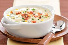 Make a hearty Bacon and Corn Chowder with corn and red potatoes. Hot pepper cheese adds the spice to this Bacon and Corn Chowder that's simply awesome.