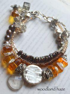 ON SALE chunky bracelet citrine bracelet hessonite by soulfuledges