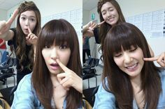 SNSD Jessica and Tiffany selca pictures #SNSD
