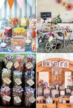 Wedding Sweetie bars and Candy Buffets | See more great wedding food ideas on www.onefabday.com