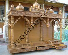 Code 65 Wooden Carved Teakwood Temple Mandir Wooden
