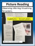 Picture Reading Strategies that work. Picture reading making inferences. Reading activities for grade. Using pictures to make inferences. Visual Literacy, Math Literacy, Literacy Centers, Reading Strategies, Reading Activities, Classroom Activities, Classroom Pictures, Making Inferences, Early Reading