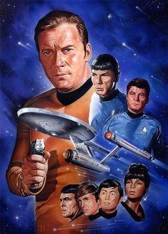 The Geeky Nerfherder: Happy Birthday Star Trek! Star Trek Enterprise, Nave Enterprise, Star Trek Starships, Star Trek 1, Star Trek Spock, Star Trek Original Series, Star Trek Series, Series 4, Science Fiction