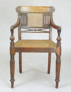 """India. Armchair. Anglo Raj Antiques Amin Jaffer """"Furniture from British India and Ceylon"""""""
