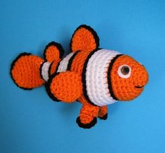 PDF Crochet Pattern CLOWN FISH pattern $5.00