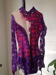 Rhythmic Gymnastics Leotard /Figure Skating Dress FREE SHIPPING on Etsy, $285.00