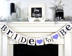 Bride to Be Banner/Bridal Shower/Bachelorette Party Sign /Wedding Shower Banner/ Garland/ Photo Prop- Wedding Decor / Choose Your Colors