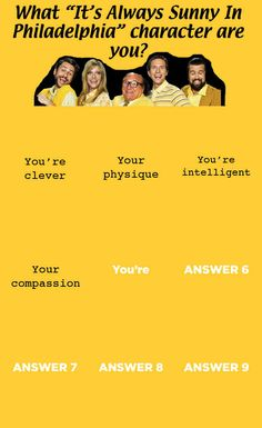 "What Character from ""It's Always Sunny In Philadelphia"" Are You?"