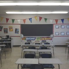High school classroom decoration (front of room)