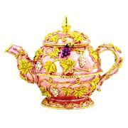 Teapot jeweled trinket box