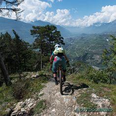 Biken in Crans Montana Christ Roi Trail