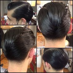 See related links to what you are looking for. Rockabilly Hair Men, Greaser Hair, Slick Hairstyles, Hairstyles Haircuts, Haircuts For Men, Short Hair Long Beard, Hair And Beard Styles, Short Hair Styles, Hair Trends 2015