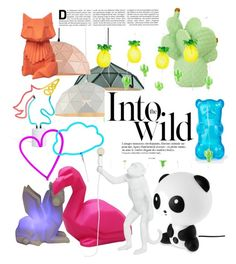 """Animal lights."" by lafumagalla on Polyvore featuring interior, interiors, interior design, Casa, home decor, interior decorating, Disaster Designs, Goodnight Light, Sunnylife e Seletti"