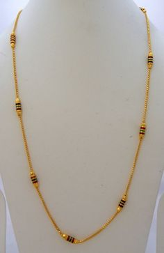 Jwellmart South India Women Gold Polish Self Design Long Necklace Chain Jmc148