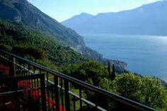 Lake Garda, Italy- Hotel Villa Sostaga exterior railing overlooking lake