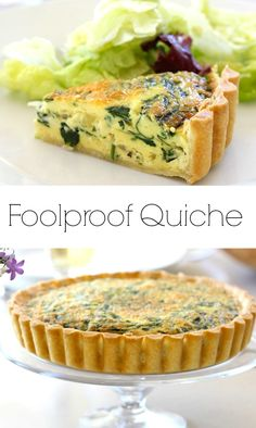 Quiche An easy quiche recipe perfect for brunch menus or Mother's Day and Easter Parties.An easy quiche recipe perfect for brunch menus or Mother's Day and Easter Parties. Easy Brunch Recipes, Gourmet Recipes, Breakfast Recipes, Cooking Recipes, Quiches, Ostern Party, Easy Quiche, Veggie Quiche, Bacon Quiche