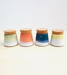 Small Ceramic Tea Canisters