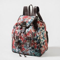 Floral Backpack ahh . Its adorable Im Soooo Getting itt. ^-^