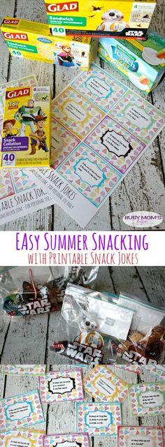 Easy Summer Snacking & Printable Snack Jokes / by BusyMomsHelper.com #ad #GladToGo