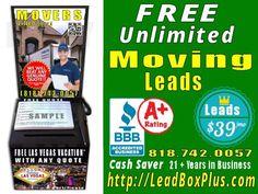 <b>Movers Lead Generation, http://LeadBoxPlus.com , info@leadBoxPlus.com  , (818) 742-0057