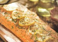 OK, yeah.....Salmon w/ Jalepeno Cream Sauce. This is AMAZING and one of our favorite recipes!