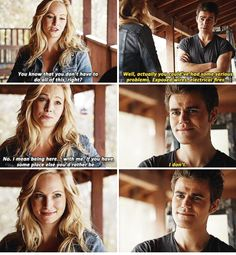 "#TVD 6x14 ""Stay"" - Caroline and Stefan"