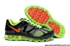 Buy Discount Electric Green Dark Grey Black Orange Nike Air Max 2012 487982-031 Mens The Most Flexible Shoes