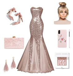 """""""Peachy party"""" by april-linns on Polyvore featuring Topshop, Edie Parker, Lizzie Fortunato and Bobbi Brown Cosmetics"""